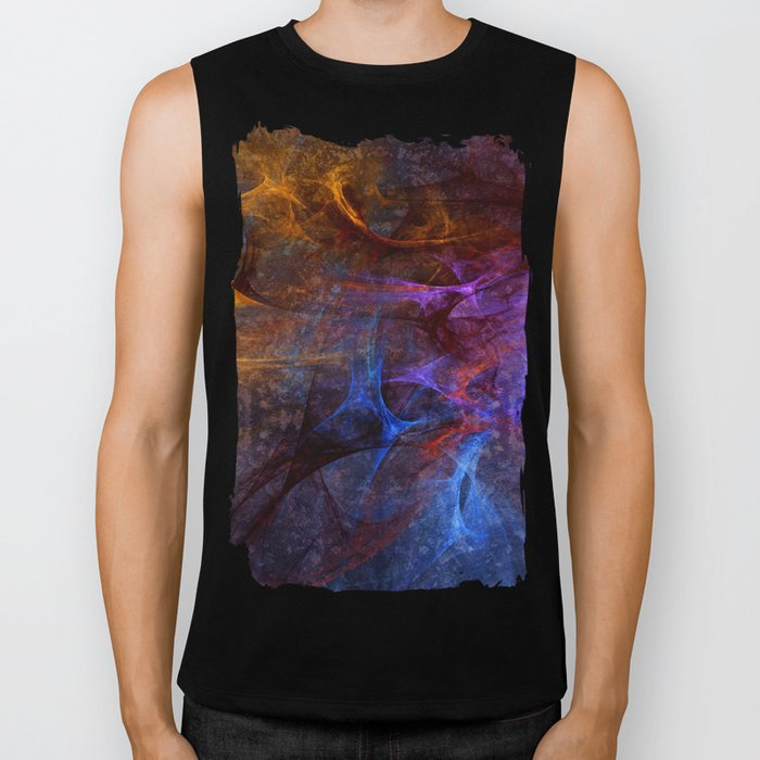 Modern abstract with artistic textures and structures Biker Tank