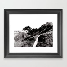 The road below the mountains Framed Art Print