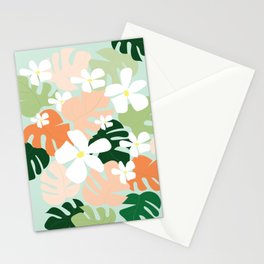 Tropical Blooms Stationery Cards