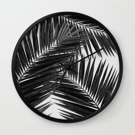 Palm Leaf Black & White III Wall Clock