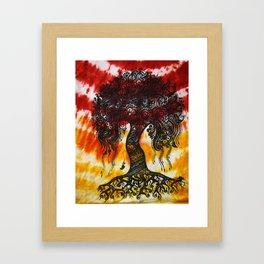 Tie-Dyed Henna Mehndi-Inspired Tree of Life Print Framed Art Print