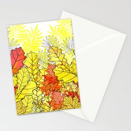 Gold autumn. Stationery Cards