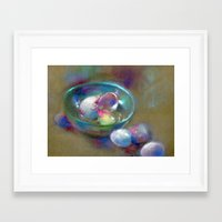 eggs Framed Art Prints featuring Eggs by Adriangiulianipastels