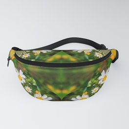 Magic Field Summer Grass - Chamomile Flower with Bug - Polarity #1 Brightly Fanny Pack