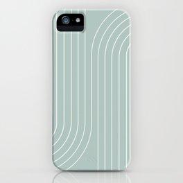 Minimal Line Curvature - Sage iPhone Case