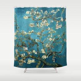 Blossoming Almond Trees, Vincent van Gogh. Famous vintage fine art. Shower Curtain