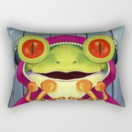 Music Frog Rectangular Pillow
