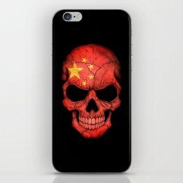 Dark Skull with Flag of China iPhone Skin