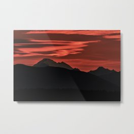 Mt Baker Sunrise Metal Print