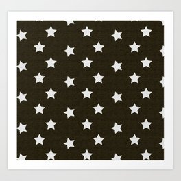 Christmas Stars #xmas #pattern #star #festive #home #decor #kirovair #christmas Art Print