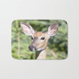 Watercolor Deer, Eastern Whitetail 03, Cape Breton, Canada, Who Me? Bath Mat