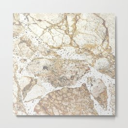 Marbled Metal Print