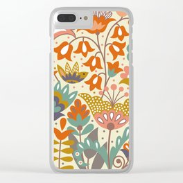 Forest flowers Clear iPhone Case