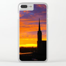 The Historic Church of St. Patrick - Sunset #1 Clear iPhone Case