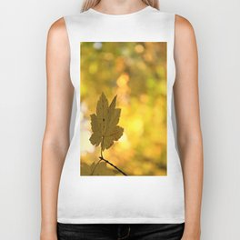 Twinkling Leaf Lights Biker Tank