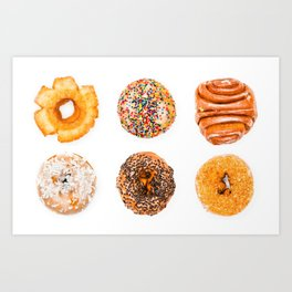 Some Donuts Art Print