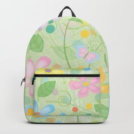 Floral and Butterfly Pattern - Spring Blossom Backpack