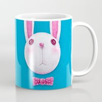 rabbit Mugs featuring Rabbit by Lime