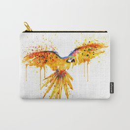Flying Parrot watercolor Carry-All Pouch