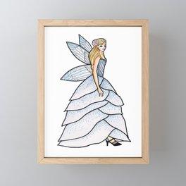 Beautiful Girl in Fairy Petals Dress Framed Mini Art Print