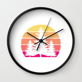 REtro Vintage Save Earth Environmental Shirt For Environentalists T-shirt Design Nature Forest Wall Clock