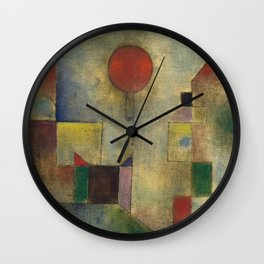 Red Balloon by Paul Klee Wall Clock