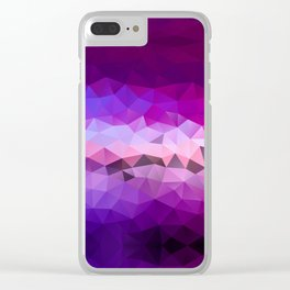 Violet poly art pattern Clear iPhone Case