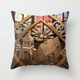 Metal Decoration in St Vitus Cathedral, Prague Throw Pillow
