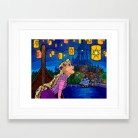 lanterns Framed Art Prints featuring LANTERNS by Chris Thompson, ThompsonArts.com