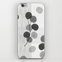 Seamless pattern of abstract branches. iPhone Skin
