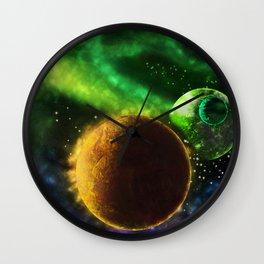 Fantasy Planets Wall Clock