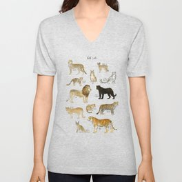 Wild Cats Unisex V-Neck