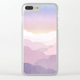 Minimal abstract landscape 01 Clear iPhone Case