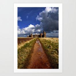 Slains Castle Art Print