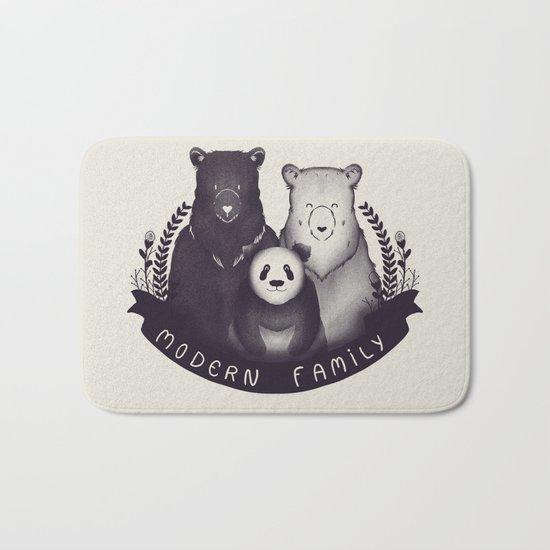 Modern Bear Family Bath Mat
