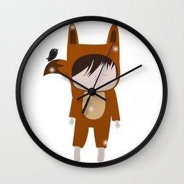 Foxie Boy Wall Clock