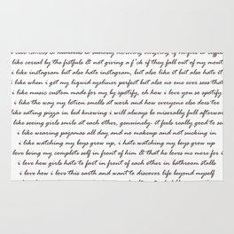 Hummus, Tats & Farts....A Real Poem by a Real Girl Rug