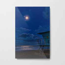 Moon Over Tower Four Metal Print