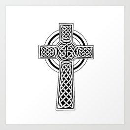 Celtic Knot Cross Tattoo Art Print