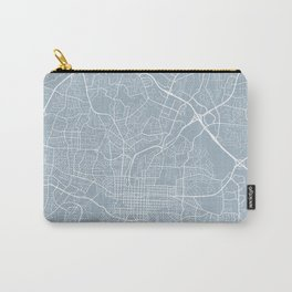 Raleigh Map, USA - Slate Carry-All Pouch