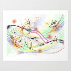 Abstrakt - Frühling 1 Art Print