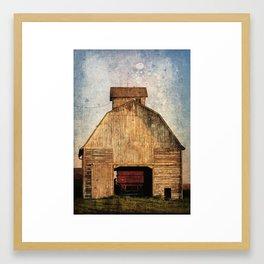 Corn Crib Framed Art Print