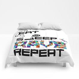 Eat Sleep RAVE Repeat Comforters