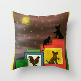 """""""Moonlight & Silhouettes (i)"""" by ICA PAVON Throw Pillow"""