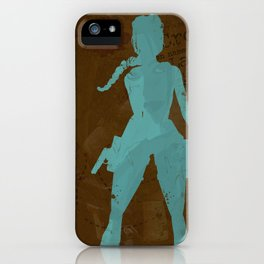 Tomb Raider Poster iPhone Case