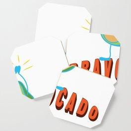Bravo Applause Avocado Funny Lecture Gift Coaster