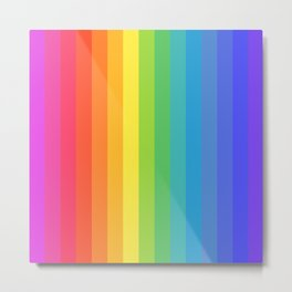 Solid Rainbow Metal Print