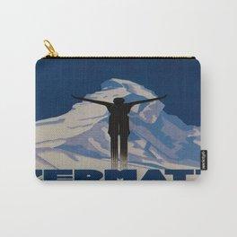 Vintage Zermatt Switzerland Travel Carry-All Pouch