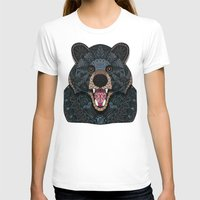 ornate T-shirts featuring Ornate Black Bear by ArtLovePassion