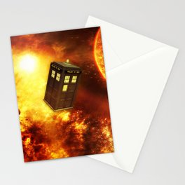 Tardis Space Stationery Cards